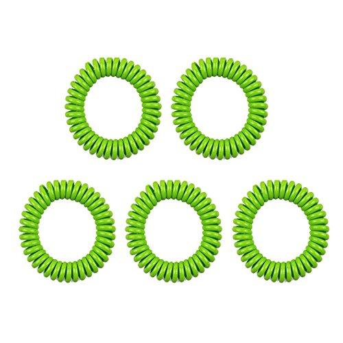 Imagen de tianu pulseras repelentes de mosquitos de silicona  keep mosquitoes away  bandas de muñeca para niños, bebés, adultos, hombres y mujeres 5 unidades/5 colores , verde