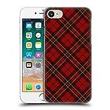 Head Case Designs Offizielle PLdesign Rotes Schottenmuster Weihnachten Ruckseite Hülle für iPhone 7 / iPhone 8