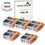 25 XL ( 5 Sets) Colour Direct Compatible Cartouches d'encre compatibles Remplacement Pour Canon CLI-551XL/ PGI-550XL - Pixma MG5450 MG5550 MG5650 MG6350 MG6450 MG6600 MG6650 MX925 MX725 MG7150 MG7550 iP7250 iP7200 iP8750 iX6850 Imprimantes