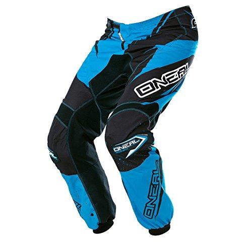 O'Neal - Pantaloni da Motocross, Racewear, Enduro, Fuori Strada, Quad, 0128-0O, Nero/Blu, 34/50