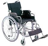 Carrozzina Royal, sedia a rotelle con seduta 46 cm, tessuto nero