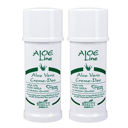 2x Aloe Vera Creme Deo 'ALOE Line', Antitranspirant, 2x40ml