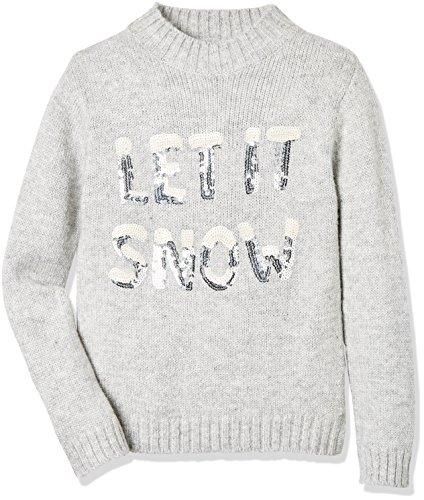RED WAGON Let It Snow Xmas Maglione Natalizio, Bambina, Grigio, 8 Anni