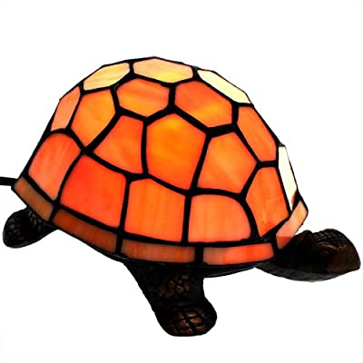 Tiffanylampe Tischlampe Tischleuchte DEKO Schildkröte