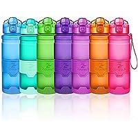 Bouteilles d'eau sport, 400ml/500ml/700ml/1L gourdes eau, réutilisable tritan plastique, sans bpa & anti-fuite | grande bouteille fitness pour randonnée, voyager, yoga, gym, gourde ouvrir en 1 clic