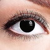 Colores Contacto lente negro sin grosor con diseño negra FUN lente para Halloween Carnaval Fiesta Cosplay Disfraz Big Eyes Dolly Black
