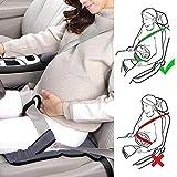 URAQT Incinta Cintura di sicurezza, Proteggi Il feto Traspirante e Regolabile Donna Incinta Sicurezza Guida Cintura, Seggiolino Auto Morbido Cuscino Imbottito Fascia di Protezione
