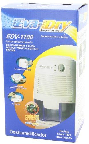 Eva-dry Edv-1100 Electric Petite Dehumidifier, White by Eva-Dry