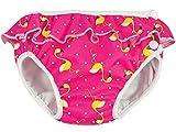 ImseVimse, Schwimmwindel, Badewindel, Aquawindel, Modell Pink Flamingo mit Rüsche (L 9-12kg)