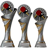 KDS® FG Pokal L Trophäe Tischtennis mit Emblem 70 mm aus Resin Kunstharz Massiv ca. 26 cm Hoch