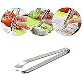 Westeng 1 Pezzo cucina acciaio INOX color argento Fish Bone Remover pinzette pinzetta pinze