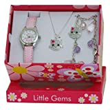 Ravel 'Little Gems' Kitten Watch and Silver Plated Jewellery Set.