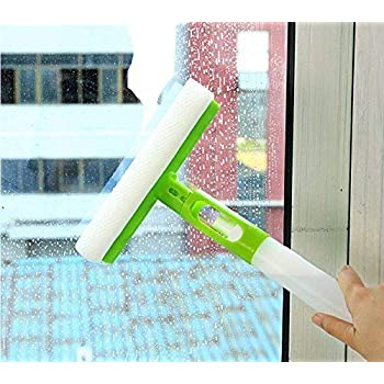 Improvhome 3 in 1 Spray Type Cleaning Easy Glass Wiper Window Clean Shave Car Cleaner Brush, Standard, Random Colour