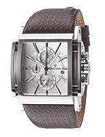 Yves Camani Escaut - Reloj para hombre, color plateado / marrón de Yves Camani
