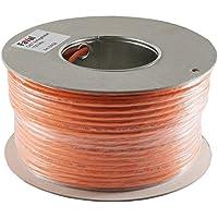 Faval K5409 - Cable de instalacióCat.7, bobina de 100m, con revestimiento de aluminio, trenzado de cobre, color naranja