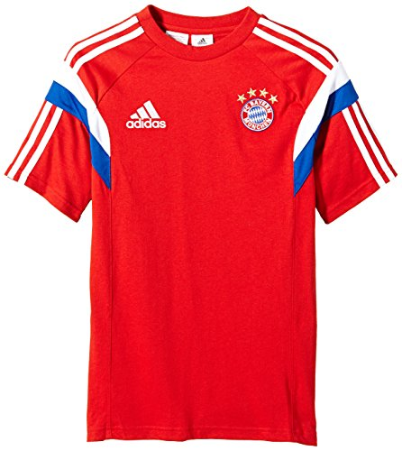 adidas Kinder T-Shirt FC Bayern Tee für Youth, FCB True Red/White, 128