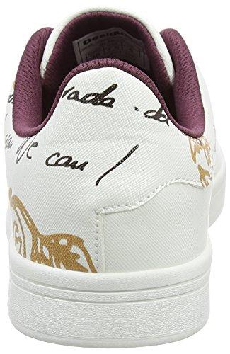 Desigual Damen Shoes_Cosmic Exotic Lettering Sneaker Weiß (Blanco)