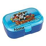 Lunchbox * PIRATEN plus WUNSCHNAME * für Kinder von Lutz Mauder // Brotdose mit Namensdruck // Perfekt für Jungen // Vesperdose Brotzeitbox Brotzeit (mit Namen)