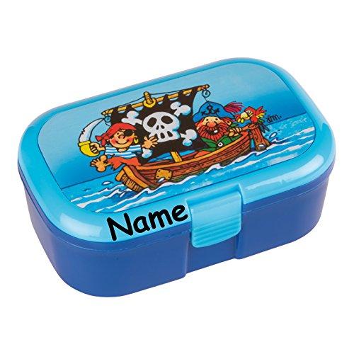 Lunchbox * PIRATEN plus WUNSCHNAME * für Kinder von Lutz Mauder // Brotdose mit Namensdruck // Perfekt für Jungen // Vesperdose Brotzeitbox Brotzeit (mit Namen) (Piraten-lunch-box)