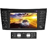YINUO 7 Pulgada Android 5.1.1 Lollipop Quad Core 2 Din HD 1024*600 Pantalla Tácil Reproductor De DVD Navegador GPS De Coche Para Mercedes-Benz E-W211/E200/E220/E240/E270/E280(2002/03-2008)/ CLS-W219/CLS350/CLS500/CLS55(2005-2006)/ CLK-W209(2005-2006)/ G-W463(2001-2008) Incluida La Cámara De Trasera