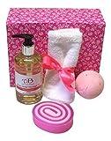 Yummy Momia Pamper Set Regalo con Antiestrés Aceite De Masaje, Rosa Bomba De Baño y rosa Jabón Trozo Ideal para Día De La Madre, Cumpleaños o Nuevo mamá