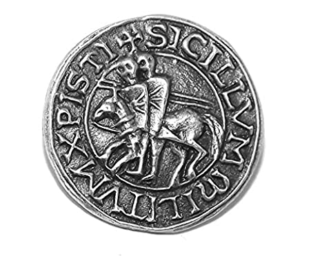 Knights Templar Seal Pin Badge / Brooch (Poor Fellow-Soldiers of Christ)