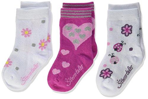 Sterntaler Baby-Mädchen Socken Söckchen 3er Pack Marienkäfer, Weiß (Weiss 500), 22 (Herstellergröße: 19/22) (Weiße Socken Mädchen)