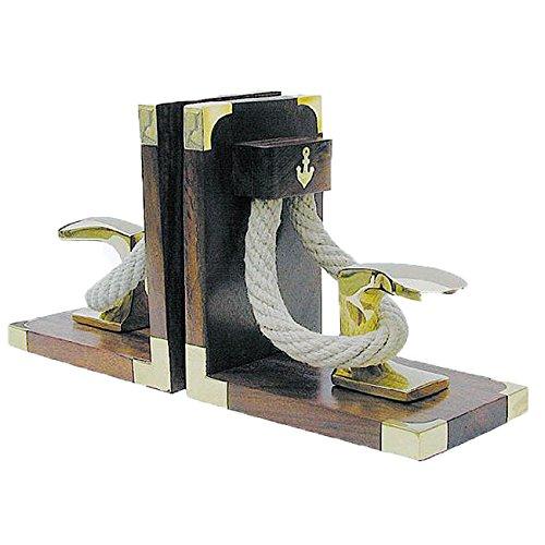Buchstützen PollerΤ Holz/ Messing, 1 Paar, 31x16x9,5cm