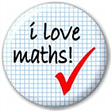 Small 25mm Lapel Pin Button Badge Novelty I Love Maths