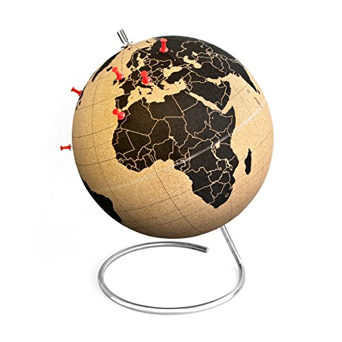 Suck UK SK CORKGLOBE2 - Globo terráqueo de corcho mini, color corcho