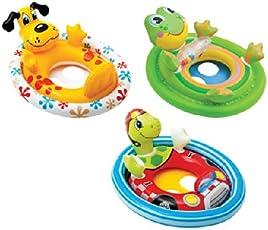 Intex Inflatable See Me Sit Pool Ride, Multi Color