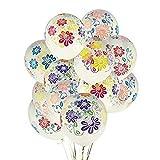 Yalulu Luftballons, 12-Zoll Helium Latex Ballons, Blumen Transparent, Luftballons für Hochzeit Party Geburtstag -50 Stück