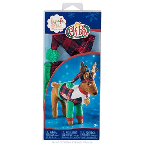 Elf auf dem Regal Claus Couture Verspielte Rentier Mädchen Neuheit, rot/grün (Elf Regal-kostüm Dem Auf)