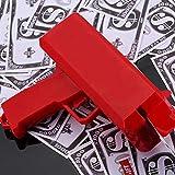 Househome Nachtclub Schießen Geld Waffe, Geld Pistole Spielzeug Pistole &Geldpistole+100 Gefälschte Münzen, Spritzpistole spucken Geld Spoof Spielzeug für Ihre Kinder oder Freunde, Rot