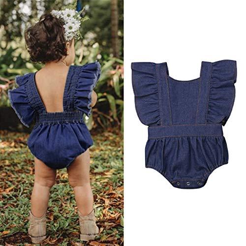 Mitlfuny Unisex Baby Kinder Jungen Zubehör Säuglingspflege,Kleinkind-Baby-Kind-Mädchen-feste Fliegen-Hülse geraffte ()