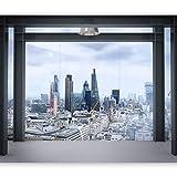 murando - Fototapete 400x280 cm - Vlies Tapete - Moderne Wanddeko - Design Tapete - Wandtapete - Wand Dekoration - Stadt London Panorama d-B-0033-a-a