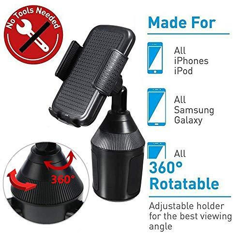 ShinyAmber Auto-Halterung Verstellbarer Halter Universal Cradle für Cup MP3-Player GPS-Handy Cradle-mp3-player