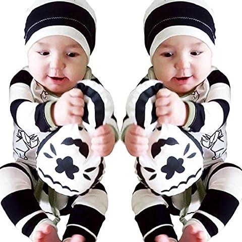 KolyBebé recién nacido tapas de la ropa + pantalones de la camiseta 2pcs equipos fijó 0-24 meses (70)
