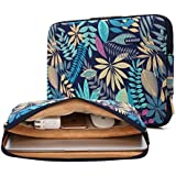 Kayond Canvas Water-resistant 15-15.6 Inch Laptop Sleeve Case Bag (15-15.6 Inches, Forest Series Bule)
