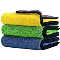 endosy Car Drying Towel, Free Microfiber Cleaning Cloth,Premium Professional Soft Microfiber Towel,Super Absorbent Detailing Towel for Car/Windows/Screen/Kitchen,40x30cm 3Pack