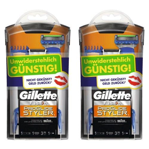 Gillette Fusion ProGlide Styler Test-Wochen Rasierer, 2er Pack (2 x 1 Stück)