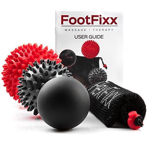 Die Hand-fuß-massage (Footfix 3er Set - 2 x Massageball Igel & 1 Triggerpunkt Massageball / Faszienball für die Fuß-Massage & Hand-Massage - hart & weich)