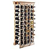 FDS COSTWAY Weinregal aus Holz Flaschenregal Weinständer Holzregal Weinschrank Flaschenständer für 44 Flaschen