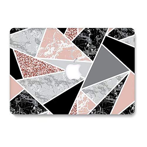 AQYLQ MacBook Schutzhülle/Hard Case Cover Laptop Hülle [Für MacBook Air 13 Zoll: A1369/A1466], Ultradünne Plastik Matt Gummierte Hartschale Schutzhülle, DL-61 Weißer & Schwarzer Marmor