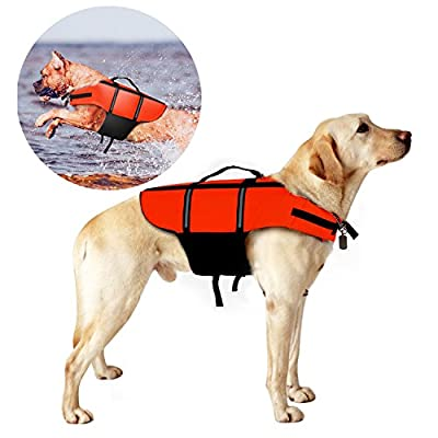 Poppypet Hundeschwimmweste Doggy Aqua-Top Schwimmweste Schwimmtraining für Hunde Orange