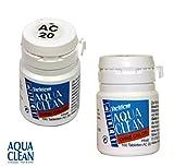 Yachticon, compresse per la pulizia dell'acqua Aqua Clean,senza cloro, 100pastiglie, adatte per 2000litri, AC 20
