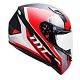 MT Full Face Helmet Mugello Airstream Glossy Black, White and Red-M