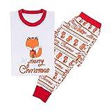WEIMEITE Weihnachten Familie Passenden Outfits Pyjamas Sets Fox Erwachsene Frauen Kind Nachtwäsche Nachtwäsche Kleidung Herbst Winter Baumwolle Kostüm Kind 90