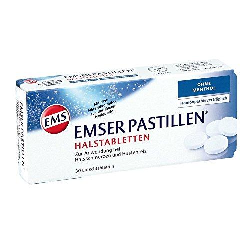 Emser Pastillen Halstabletten ohne Menthol - Bei Halsschmerzen, Husten und starker Stimmbelastung - 30 Stück