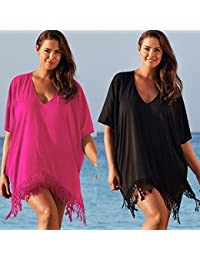Goodid camisa de tallas grandes para bikini (negro, XXXL)
